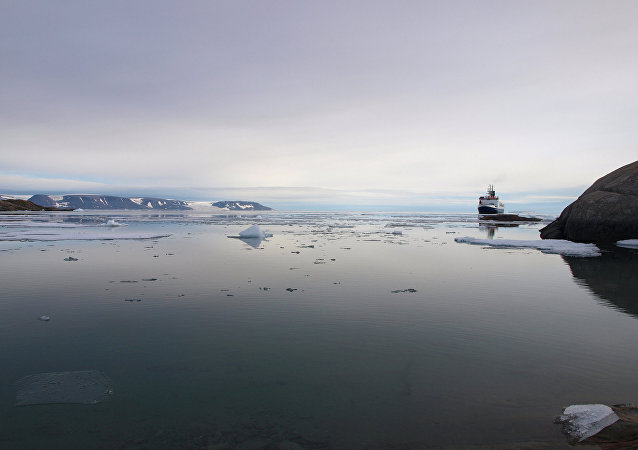 Le navire allemand RV Polarstern au large du Greenland