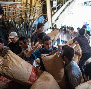 Plus de 5 tonnes d'aide humanitaire russe distribuées aux Syriens en 24h