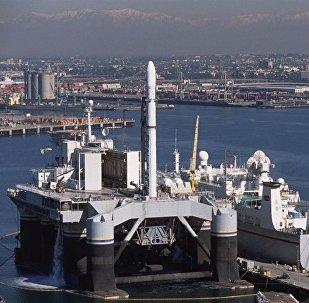 Cosmodrome mobile Sea Launch. Archive photo