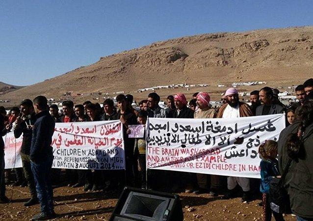 Rassemblement yézidi