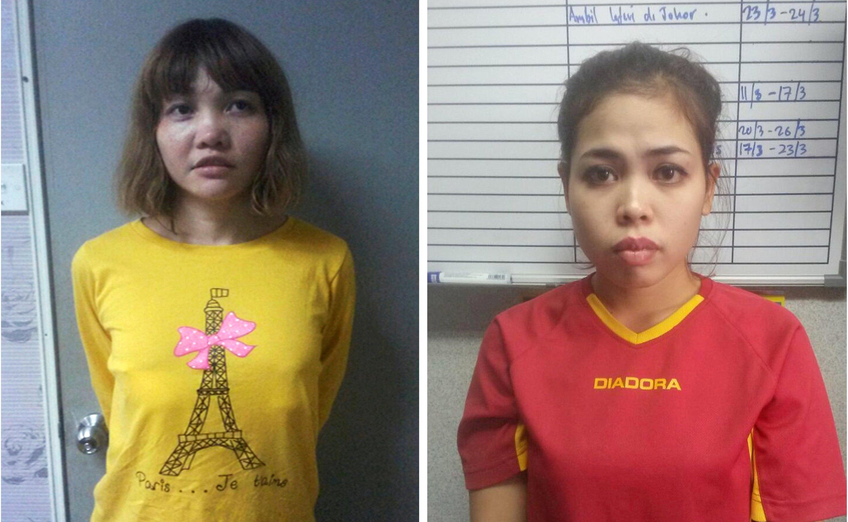Doan Thi Huong, une Vietnamienne de 28 ans (G) et Siti Aisyah, une Indonésienne de 25 ans