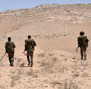 Forces de l'armée syrienne près de Palmyre. Archive photo