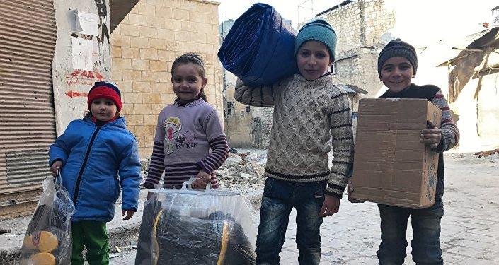L'aide humanitaire russe en Syrie. Photo d'archive