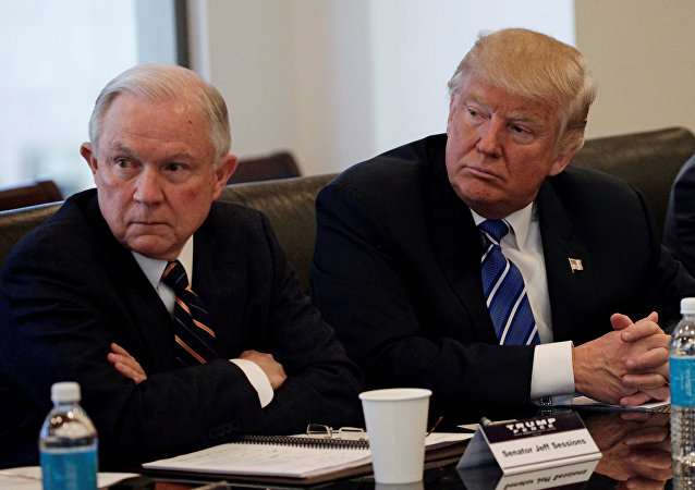 Jeff Sessions et Donald Trump