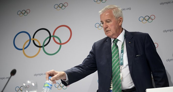 International Olympic Committee (IOC) executive member and current president of the World Anti-Doping Agency Craig Reedie arrives for a press briefing during the 129th International Olympic Committee session in Rio de Janeiro on August 2, 2016, ahead of the Rio 2016 Olympic Games. International Olympic Committee chief Thomas Bach on August 2 demanded a sweeping overhaul of the World Anti-Doping Agency (WADA) as Russian appeals against bans mounted just three days from the opening of the Rio Games. FABRICE COFFRINI / AFP