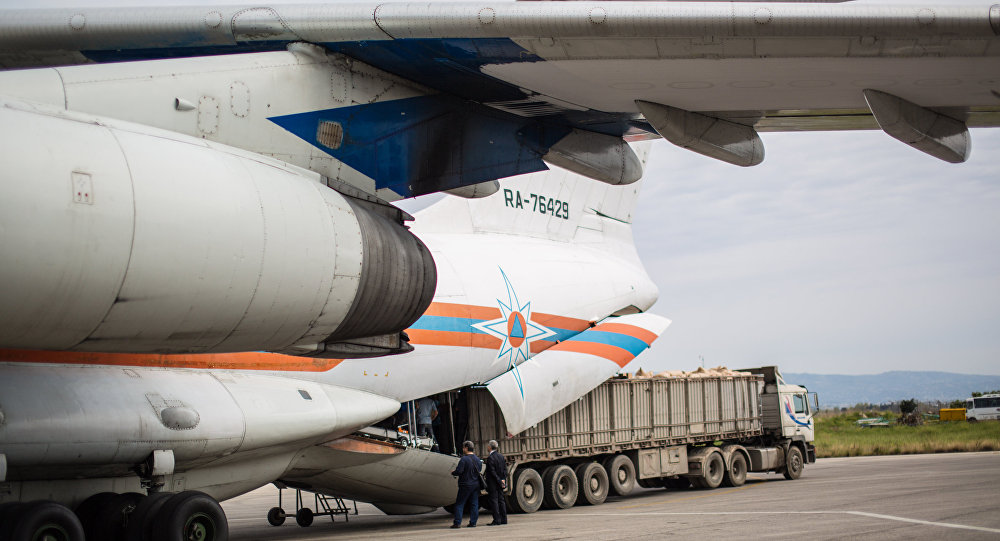 Un cargo du MSU achemine du fret humanitaire en Syrie