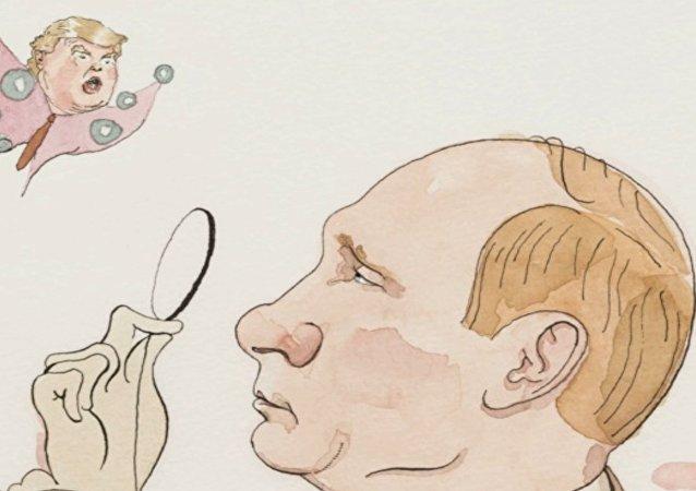 Poutine fait son apparition à la une du New Yorker éditée en cyrillique