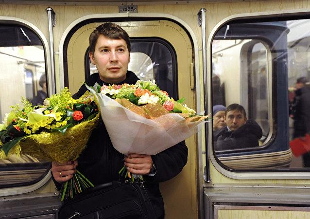 Le métro moscovite se pare pour accueillir la fête des femmes!
