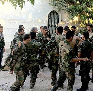 L'armée syrienne lors d'une offensive dans la province d'Alep