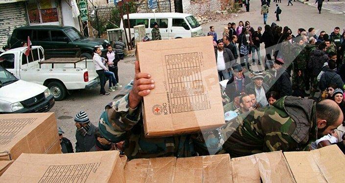 La Russie a fourni une aide humanitaire à la Syrie Kessab, Province Latakia