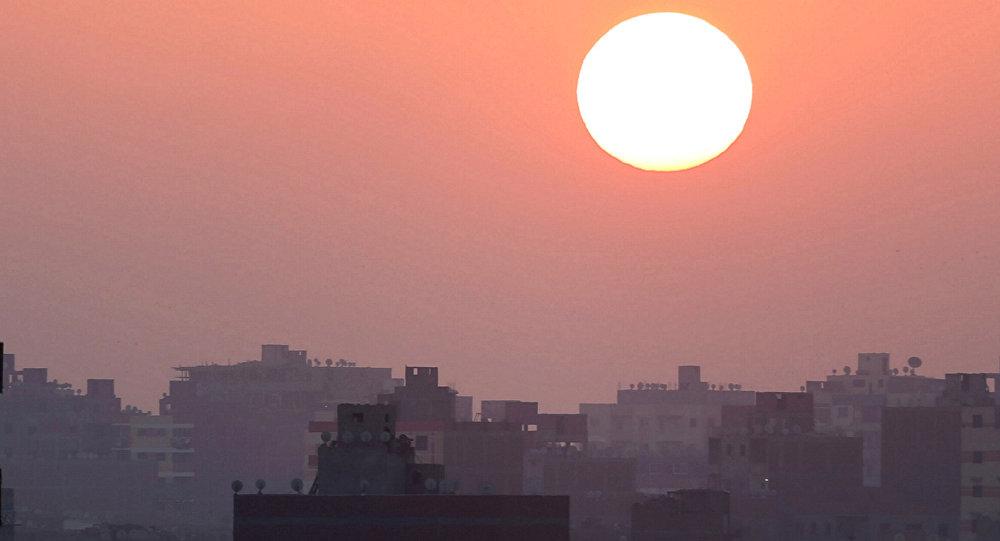 Le lever du soleil au Caire