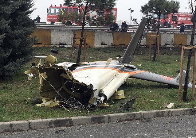 Crash d'un hélicoptère à Istanbul