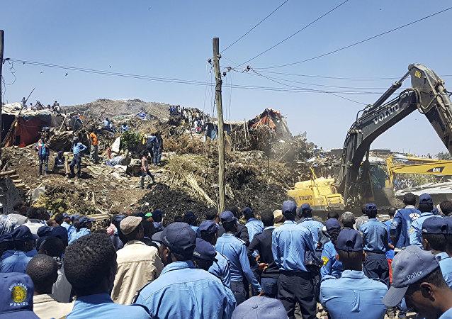 La décharge près de la capitale éthiopienne