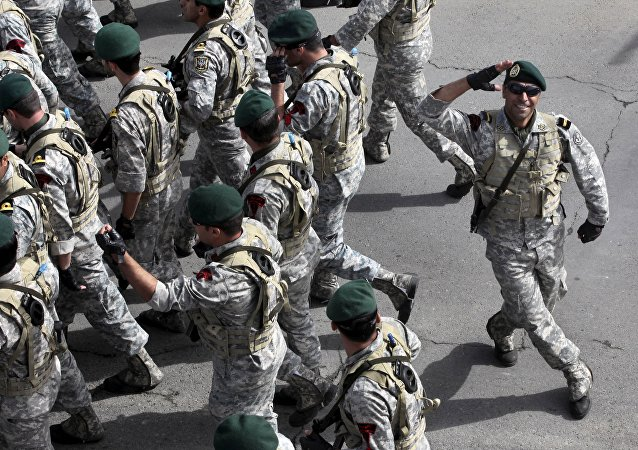 Troupes militaires iraniennes. Archive photo