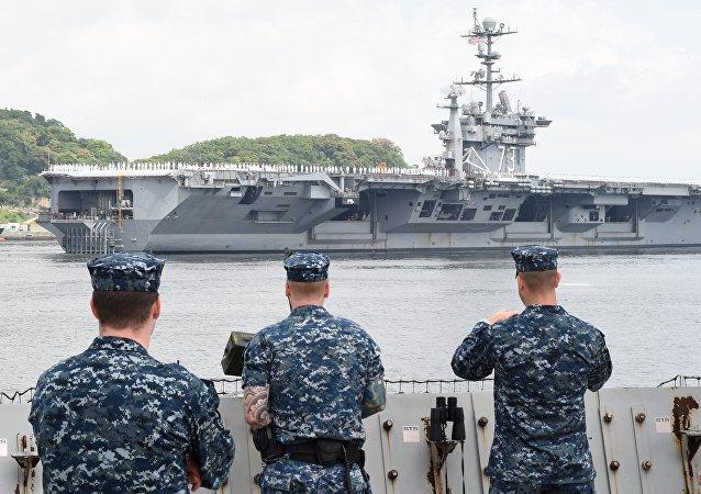 Militaires américaines sur la base militaire US, Japon