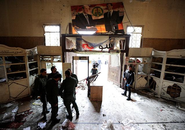 Attentant-suicide au palais de justice de Damas