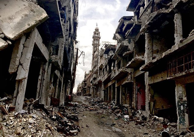 Homs ruinée par la guerre