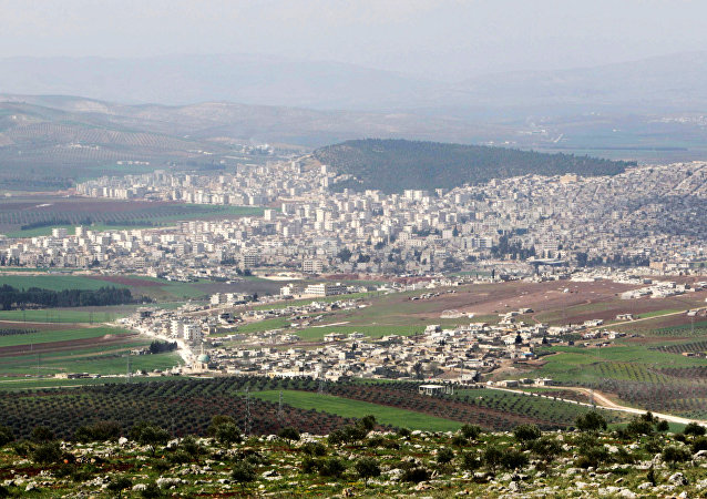 La ville d'Afrine, Syrie