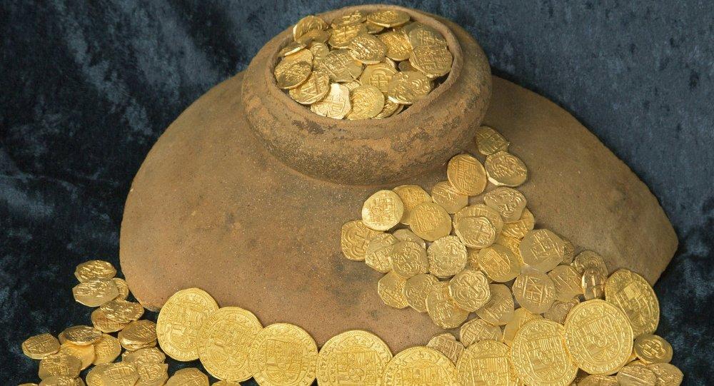 Pièces d'or. Image d'illustration