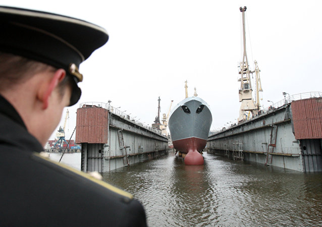 Lancement de la frégate Amiral Gorchkov
