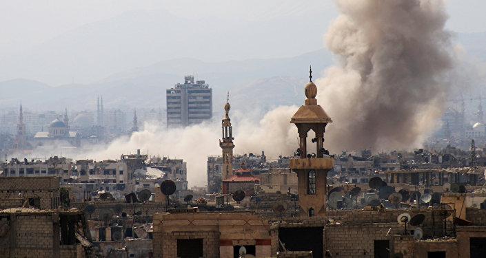 AFP 2017 Mohammed Eyad Pluie de roquettes sur Damas 5 morts et des dizaines de blessés