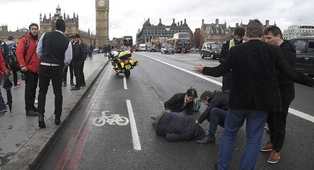Le pont de Westminster après l'attentat