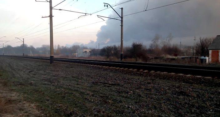 Explosion dans un dépôt de munitions en Ukraine