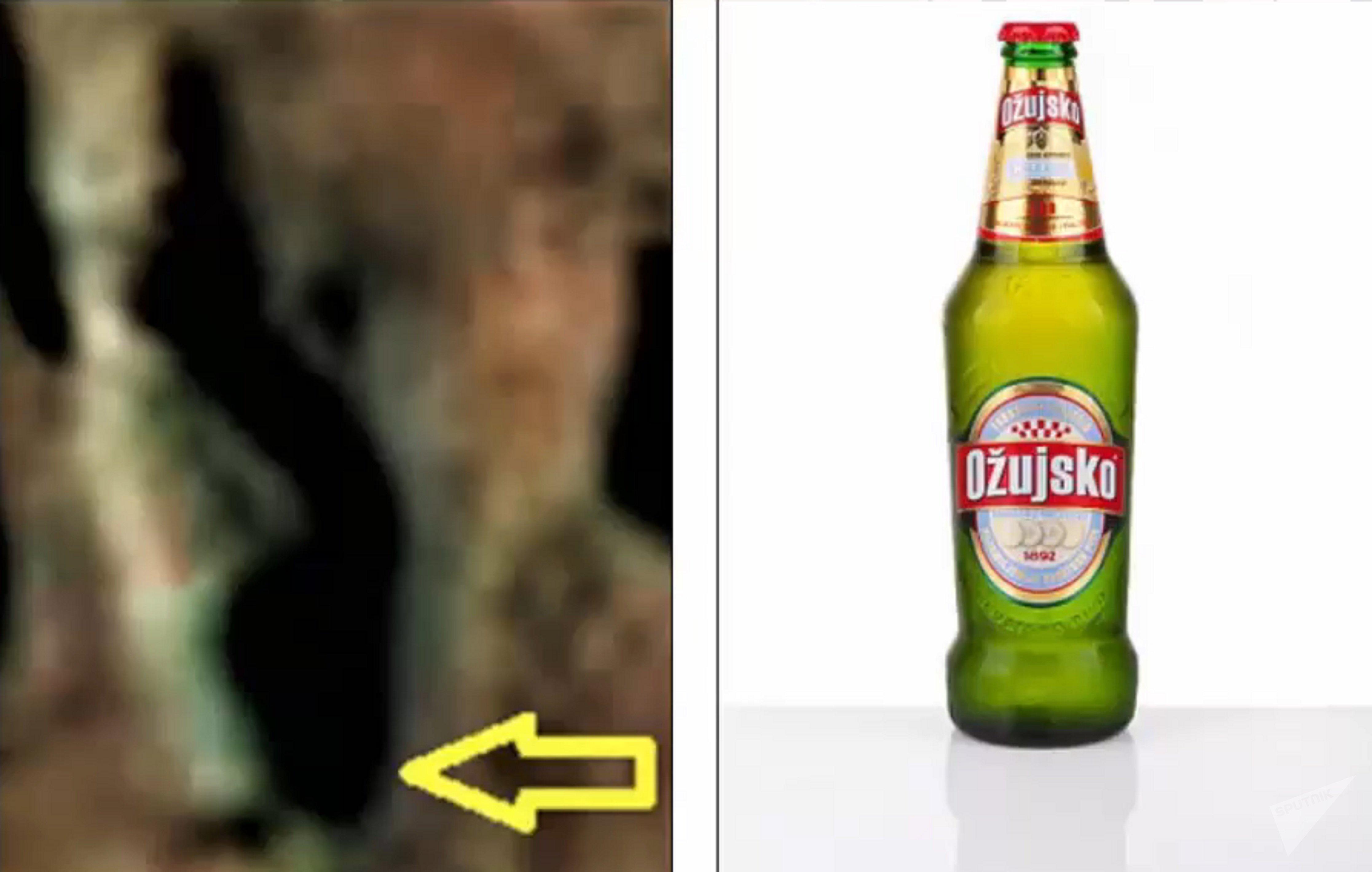 La comparaison du Daily Mail entre une bouteille de bière et bouteille de bière martienne