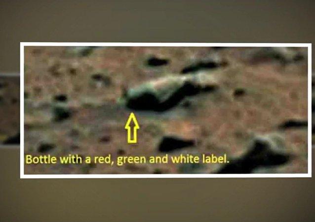 L'image d'une bouteille de bière sur Mars publié par le Daily Mail