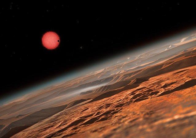 Une naine et une planète