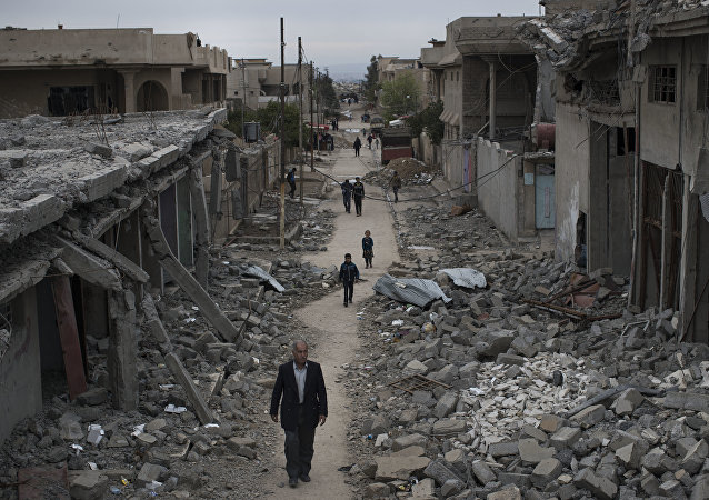 Des civils à Mossoul