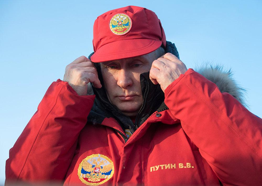 Visite du président Vladimir Poutine sur l'archipel François-Joseph