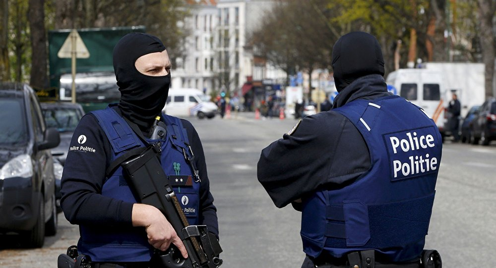 Police à Bruxelles. Archive photo