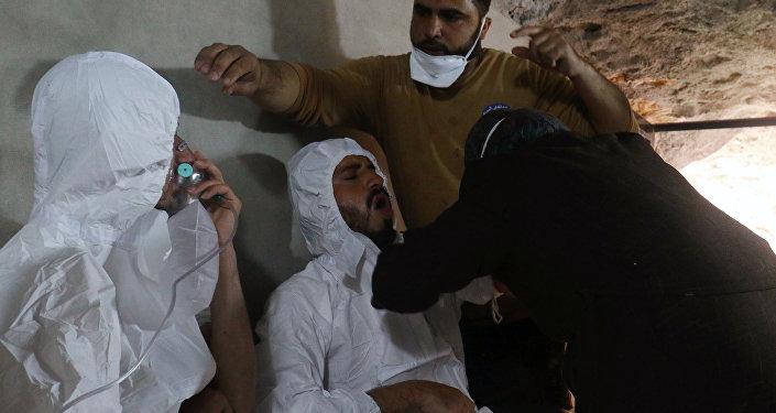 Victime de l'attaque chimique d'Idlib
