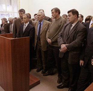 Membres des Témoins de Jéhovah pendant les audiences