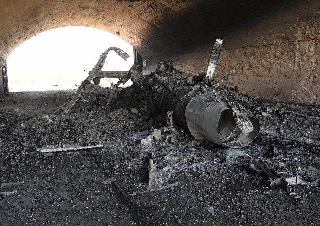 Des conséquences de frappes US sur une base aérienne en Syrie