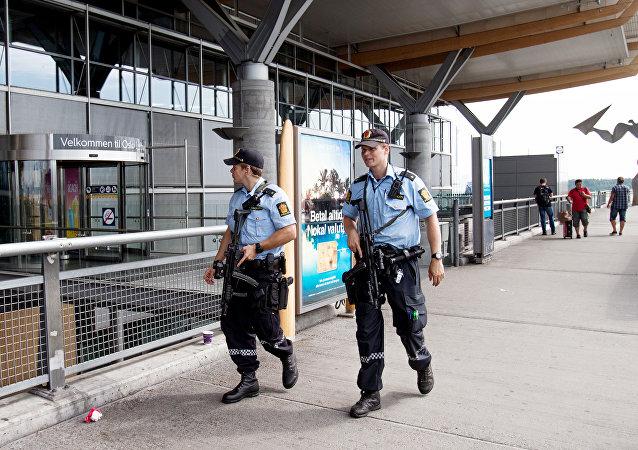 La police norvégienne à Oslo