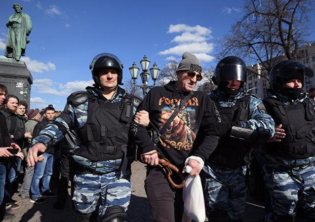 Rassemlement anti-corruption non-autorisée à Moscou