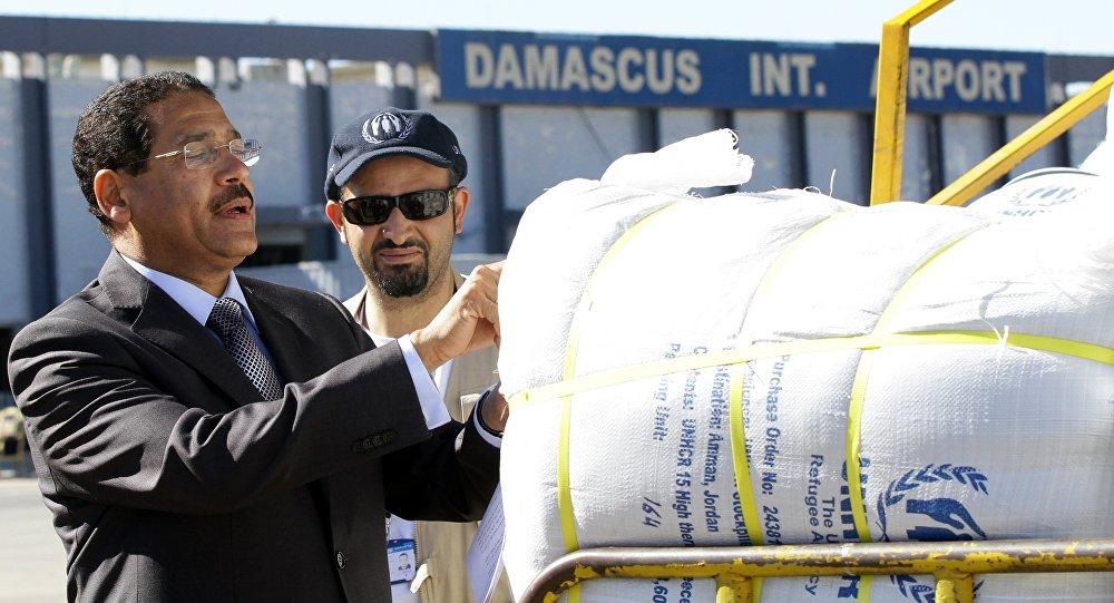 L'aide humanitaire envoyée par l'Onu. Archive photo