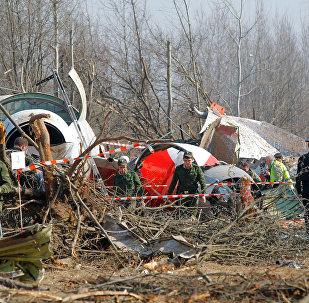 Les débris du Tu-154 du Président polonais Lech Kaczynski, qui s'est écrasé non loin de Smolensk en avril 2010