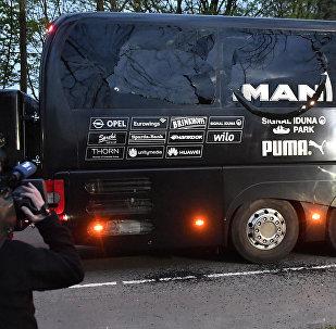 Le bus de l'équipe Dortmund