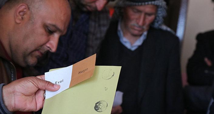Un bureau de vote à Diyarbakir, sud-est de la Turquie