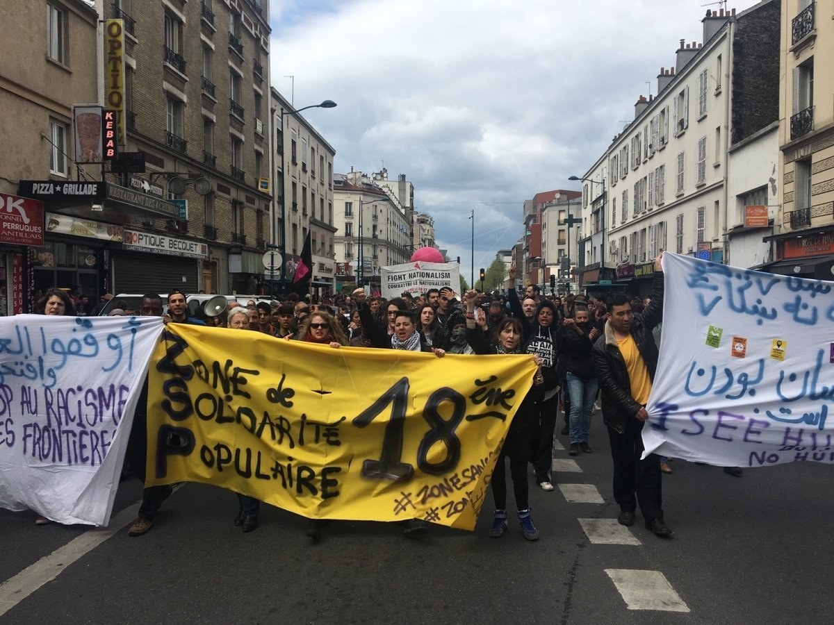 Manifestation contre FN à Paris