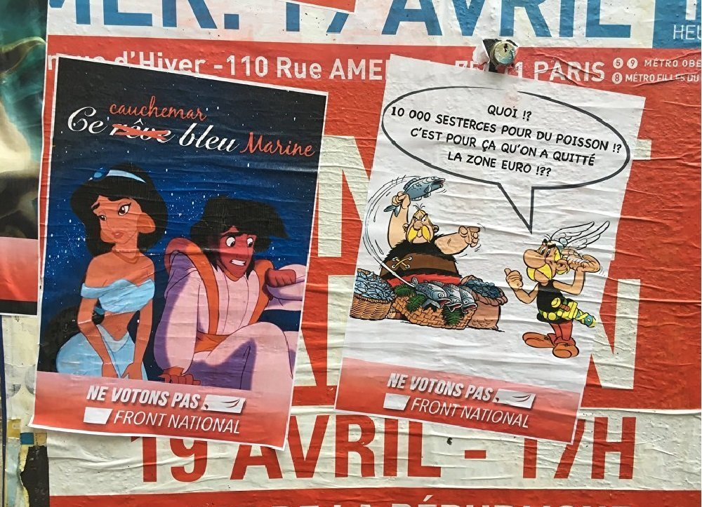 Harry Potter, Aladin et Astérix lancent une campagne anti-FN à Paris