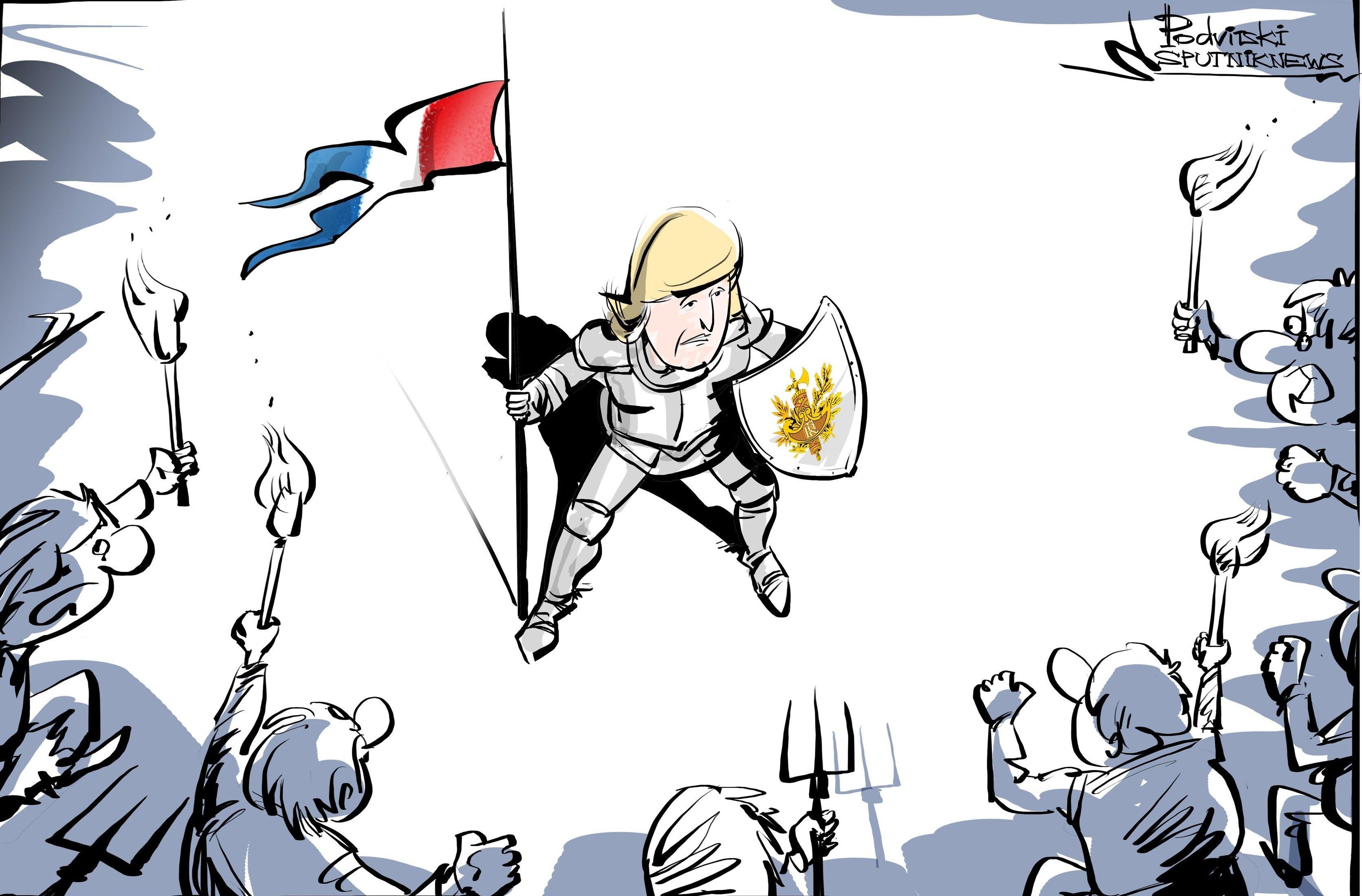Deux militantes Femen font irruption sur scène lors du discours de Marine Le Pen