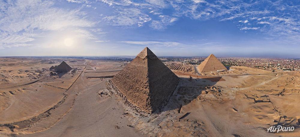 Les pyramides majestueuses de Gizeh en Égypte