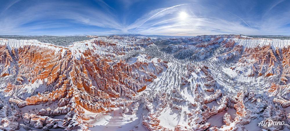 Le parc national Bryce Canyon dans le sud-ouest de l'Utah aux États-Unis