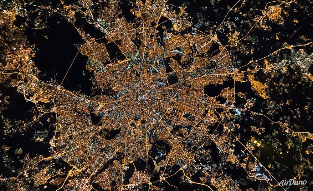 Un panorama aérien du centre de Moscou
