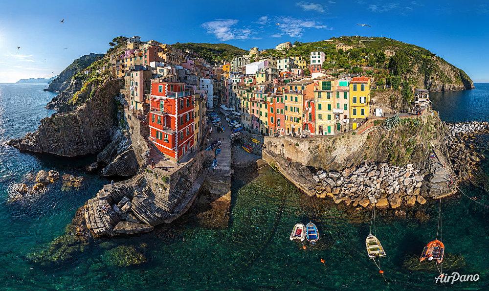 La commune Riomaggiore en Italie.