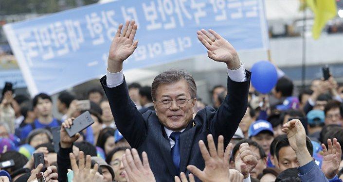 Moon Jae-in, principal candidat des forces de gauche